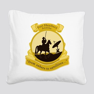 Fort Huachuca Square Canvas Pillow