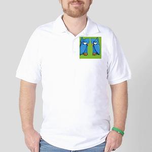 Aqua Owl green Flip Flops Golf Shirt