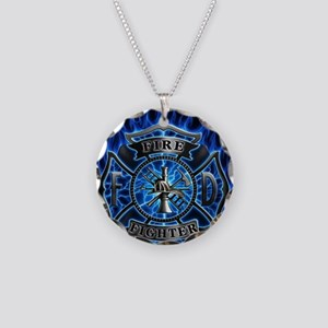 Firefighter maltese cross necklaces cafepress maltese cross necklace circle charm aloadofball Gallery