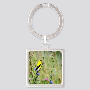 American Goldfinch Square Keychain