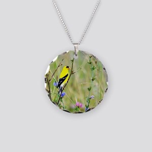 American Goldfinch Necklace Circle Charm