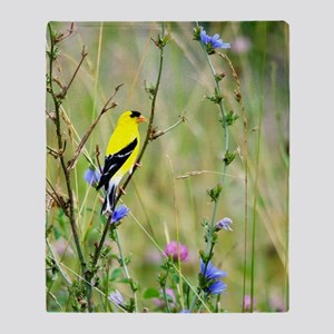 American Goldfinch Throw Blanket