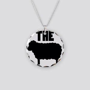 The Black Sheep Necklace Circle Charm