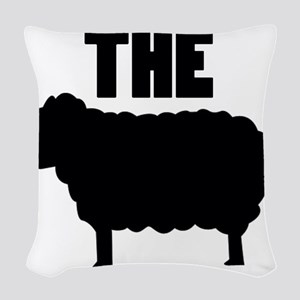 The Black Sheep Woven Throw Pillow