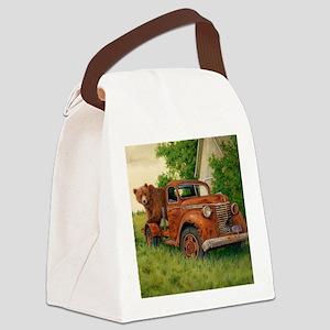 Lets Go Cinnamon Bear Canvas Lunch Bag