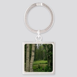 Mountain water hole Square Keychain