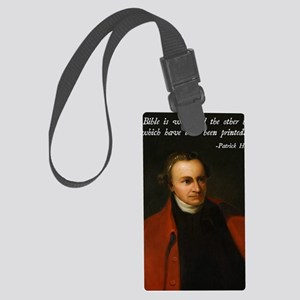 Patrick Henry Bible Quote Large Luggage Tag