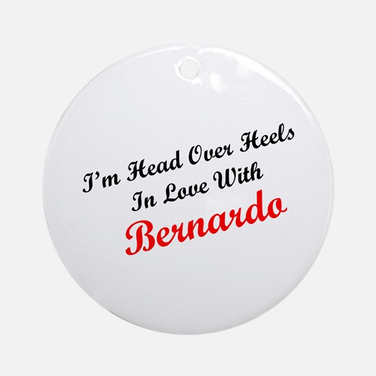 In Love with Bernardo Ornament (Round)