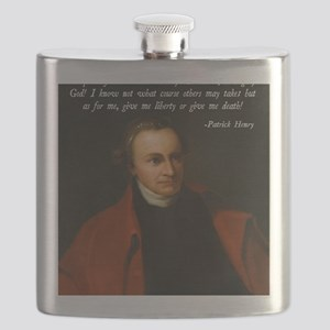Liberty or Death Quote Flask