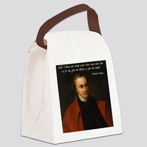 Liberty or Death Quote Canvas Lunch Bag