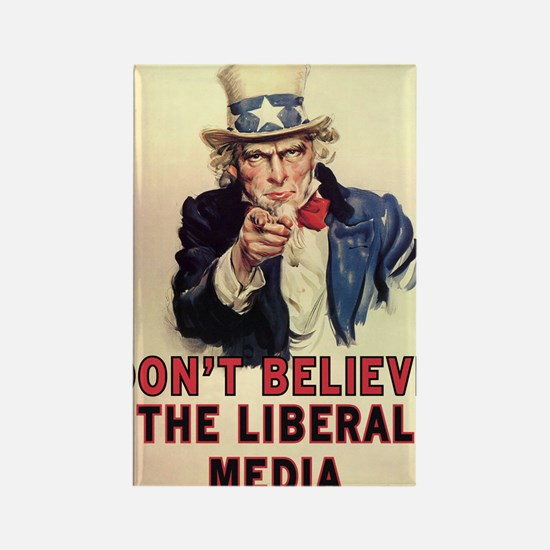 Dont Believe The Liberal Media Rectangle Magnet