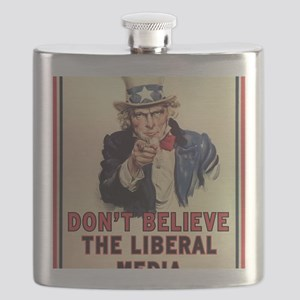 Dont Believe The Liberal Media Flask