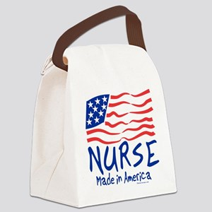 Made in America Nurse Tote Bag Canvas Lunch Bag