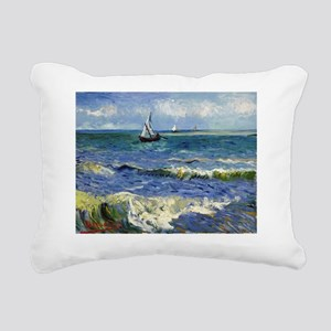 Shower VG Seascape Rectangular Canvas Pillow