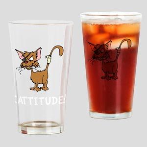 Cattitude Drinking Glass