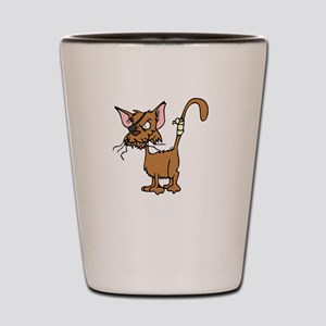 Cattitude Shot Glass