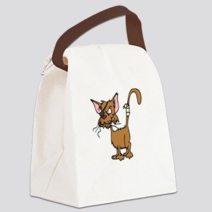 Cattitude Canvas Lunch Bag