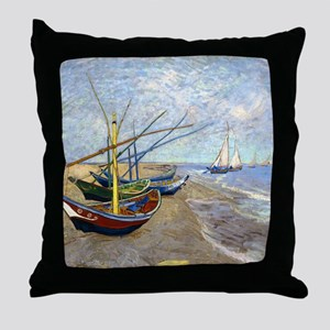 Shower VG Fishing Throw Pillow