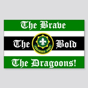 Dragoon Rugby Rectangle Sticker