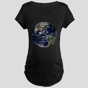 Western Hemisphere Earth Hi Maternity Dark T-Shirt
