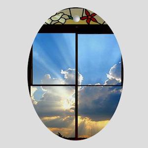 heavenly sky Oval Ornament