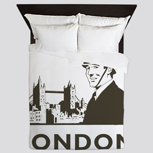 Retro London Queen Duvet