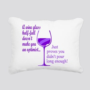 Wine Optimist NOT Rectangular Canvas Pillow
