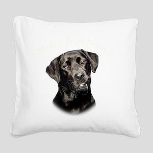 Mans Best Friend Square Canvas Pillow