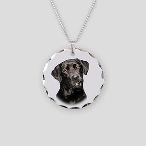 Mans Best Friend Necklace Circle Charm