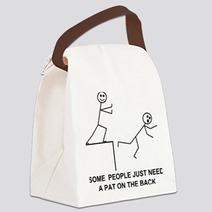 PAT ON THE BACK Canvas Lunch Bag