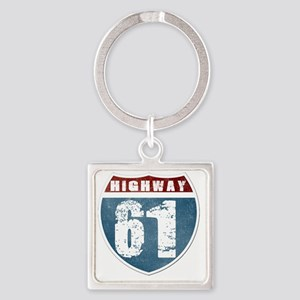 Highway 61 Square Keychain