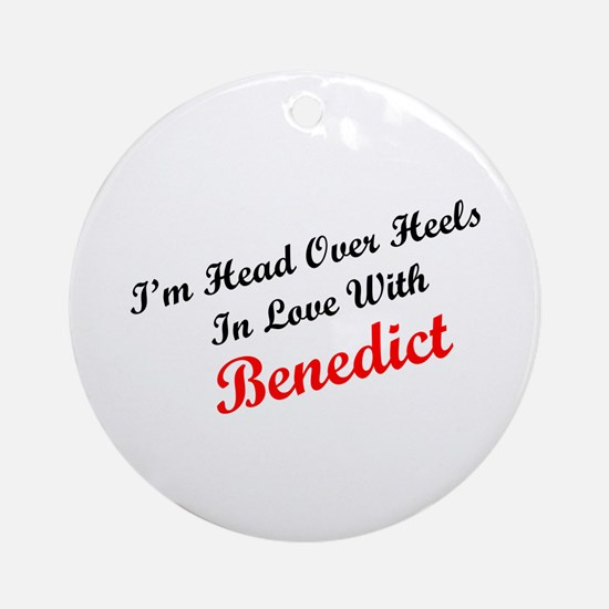 In Love with Benedict Ornament (Round)
