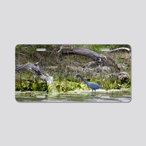 Little Blue Heron Aluminum License Plate
