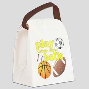 Play With The Balls Canvas Lunch Bag