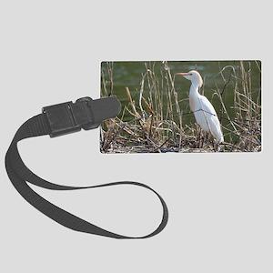Cattle Egret Large Luggage Tag