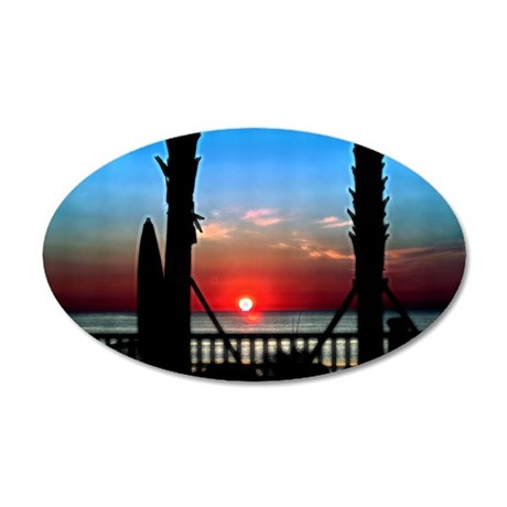 Sunrise Over Virginia Beach 35x21 Oval Wall Decal