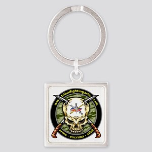 Tribal Fighting Arts Square Keychain