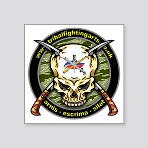 "Tribal Fighting Arts Square Sticker 3"" x 3"""