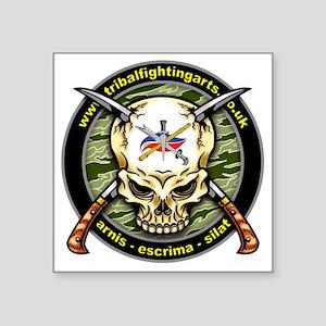 "Tribal Fighting Arts Square Sticker 3"" x 3"""
