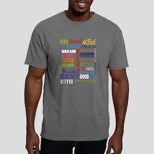 45th Birthday Typography Mens Comfort Colors Shirt