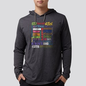 45th Birthday Typography Mens Hooded Shirt