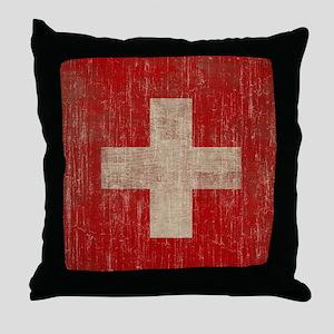 Vintage Switzerland Throw Pillow