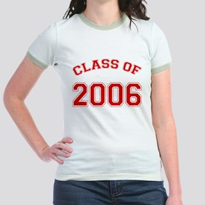 Class of 2006 Jr. Ringer T-Shirt/Solid Red Text