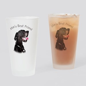 Mans Best Friend Drinking Glass