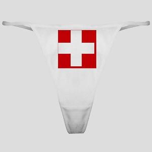 Switzerland Flag Classic Thong
