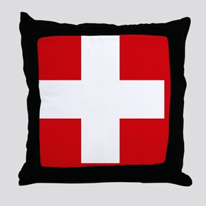 Switzerland Flag Throw Pillow