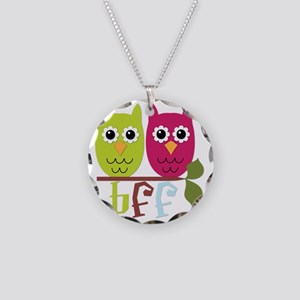 BFF Best Friends Forever Owl Necklace Circle Charm