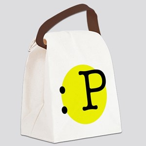Tongue Emotion Canvas Lunch Bag