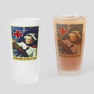 Nurse at the Helm Drinking Glass