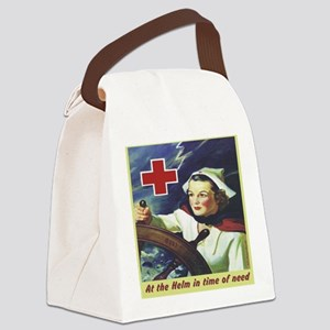 Nurse at the Helm Canvas Lunch Bag